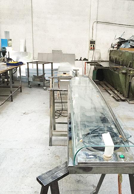Vitrina de frío en el taller
